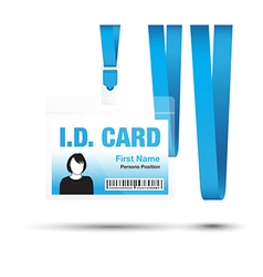 Id card woman blue vector