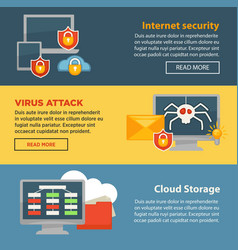internet security and cloud storage protection vector image