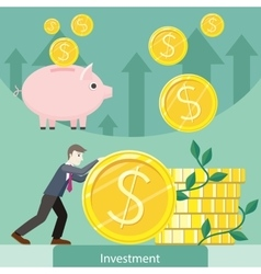 Investment Concept Flat Style vector