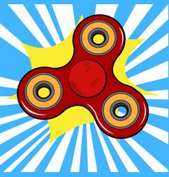 Isolated fidget spinner vector