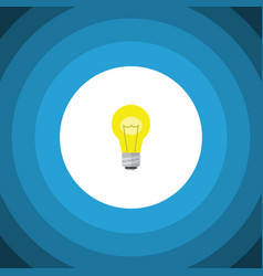 Isolated idea flat icon bubl element can vector