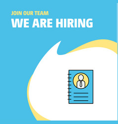Join our team busienss company personal diary we vector