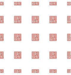 Labyrinth icon pattern seamless white background vector