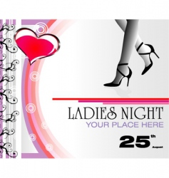 Ladies Night flyer vector image