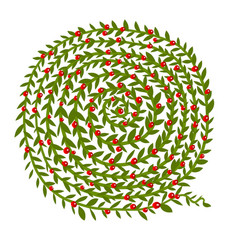 leaf spiral ornament hand drawn sketch for your vector image