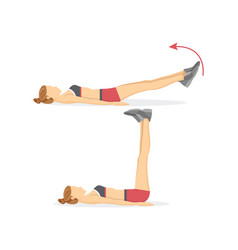 Leg raises tabata exercises vector