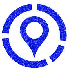 Map marker diagram grunge icon vector