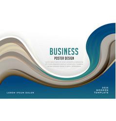 Modern blue theme business presentation template vector