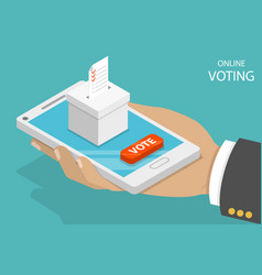 online voting flat isometric concept vector image