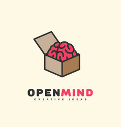 Open mind logo vector