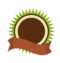 Organic label emblem template image vector