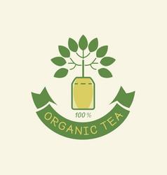 Organic tea guarantea logo vector