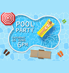 pool party invitation concept vector image