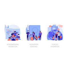 Population displacement refugees abstract concept vector