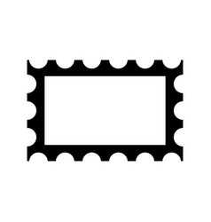 post stamp frame icon vector image