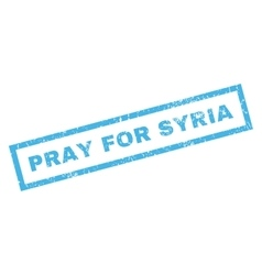 Pray For Syria Rubber Stamp vector