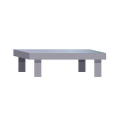 rectangular coffee table vector image