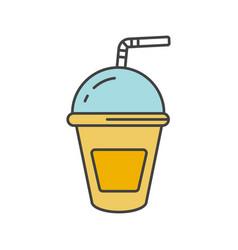 Refreshing soda drink color icon vector