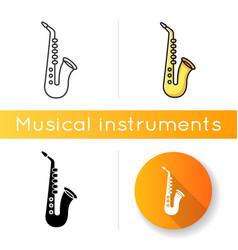saxophone icon vector image