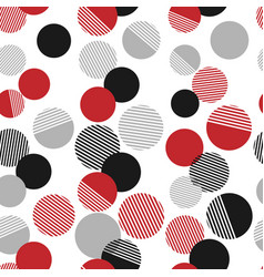 seamless pattern colorful dots and geometric vector image