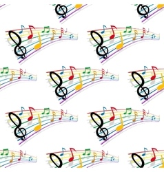 Seamless pattern of musical notes vector image