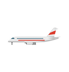 Side view jet airplane isolated icon vector