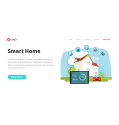 smart home or house control technology or vector image