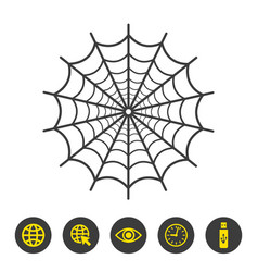 spider web icon on white background vector image