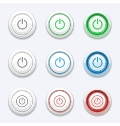 Start or power button vector