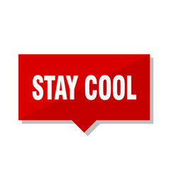 Stay cool red tag vector