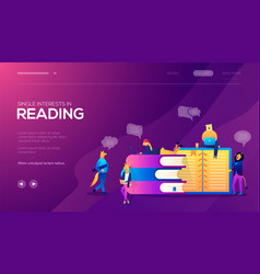 students girls and boys reading leaning and vector image