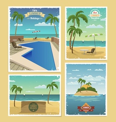 Summer Retro Backgrounds vector image