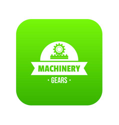 technical machinery icon green vector image