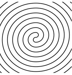 Thin black double spiral symbol simple flat vector