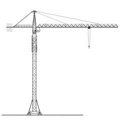 Tower construction crane rendering of 3d vector