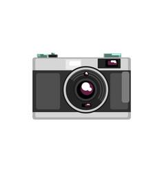 Vintage photo camera on a vector