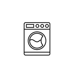 washing machine related line icon vector image
