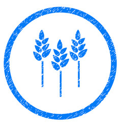Wheat ears rounded grainy icon vector