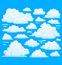 white cloud symbol for cloudscape background vector image