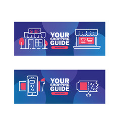 Your shopping guide delivery vector