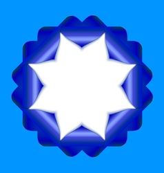 Decorative rosette vector image vector image