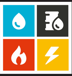 energetic resources icons vector image vector image