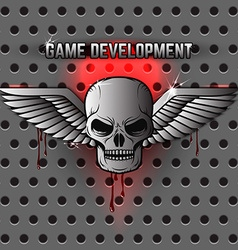 game development logo template vector image vector image