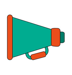 white background with megaphone symbol vector image