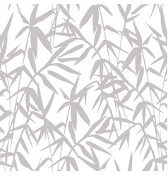 bamboo grey seamless japanese pattern on white vector image