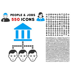 bank clients icon with bonus vector image