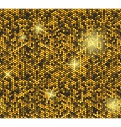 Golden seamless background with sequins vector image vector image