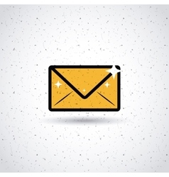 mail icon design vector image