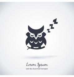 Sleeping owl logo Dream concept icon vector image vector image