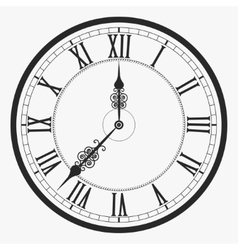 Black wall clock vector image vector image
